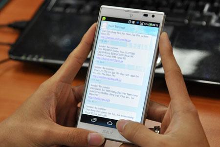 Tin nhắn rác (Spam) là hiện tượng rất phổ biến tại Việt Nam