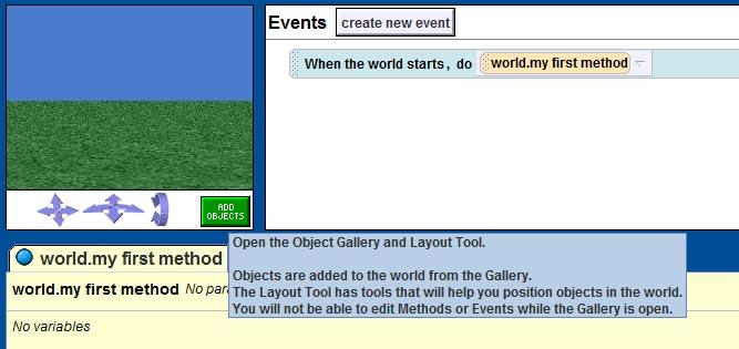 Click vào Add Object để thêm đối tượng
