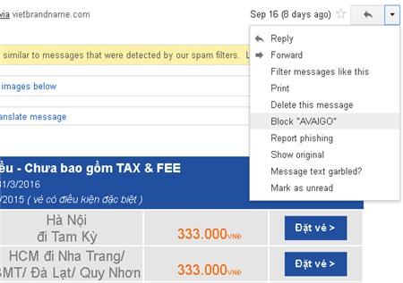 Chặn Email Spam