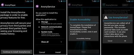 """Giao diện của ứng dụng AnonyPlayer với lời """"mời gọi"""" cài đặt thêm ứng dụng độc hại thứ hai để """"leo thang"""" thêm các tác hại trên thiết bị nạn nhân"""