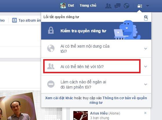 thủ thuật chặn tin nhắn rac fb