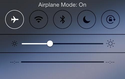 Smartphone ở chế độ máy bay
