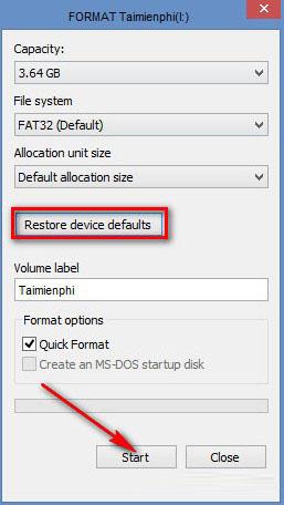 Format USB trước khi sử dụng