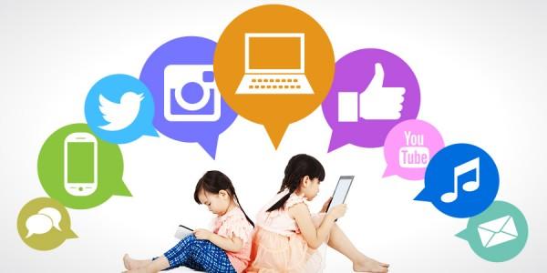 Tỉ lệ trẻ em sử dụng internet và mạng xã hội ngày càng tăng