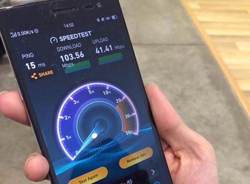 Tốc độ thử nghiệm 4G của mạng MobiFone tại khu vực quận 1, TP.HCM