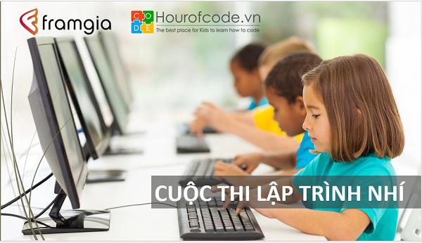 """Hour Of Code Việt Nam và Framgia phối hợp tổ chức cuộc thi """"Lớn lên con muốn làm lập trình viên"""""""