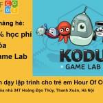 Tưng bừng khai giảng khóa học lập trình Kodu Game Lab trong tháng 7