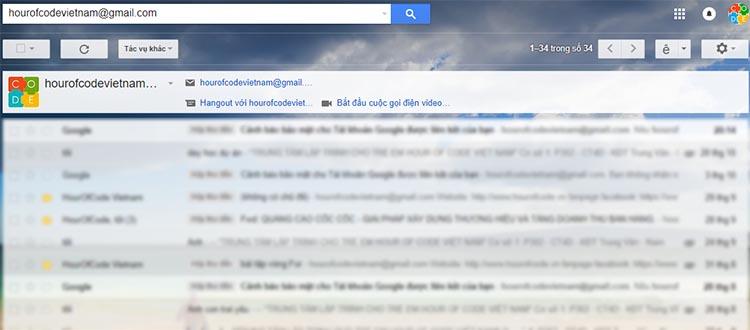 Thủ thuật tìm kiếm Gmail