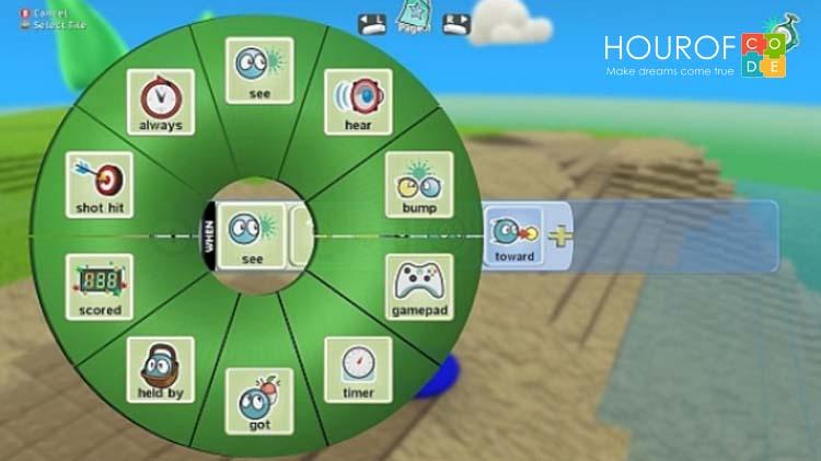 Giao diện Kodu Game Lab rất đơn giản và dễ hiểu