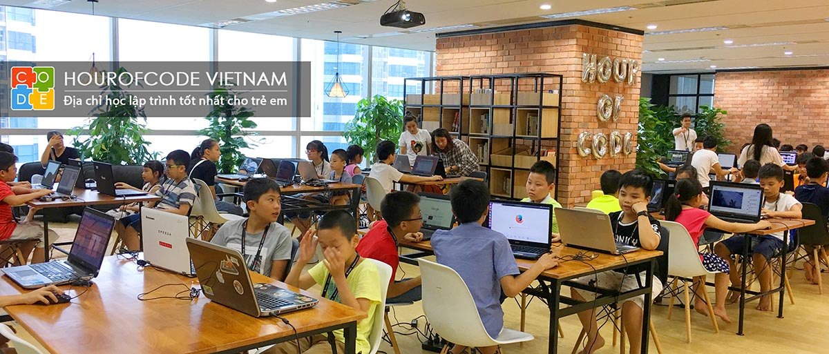Ngày hội lập trình cho trẻ em - được tổ chức bởi Hour Of Code Việt Nam và Framgia Việt Nam